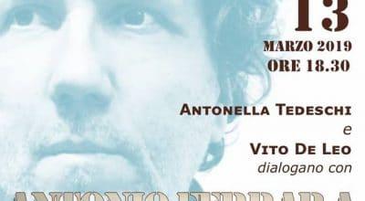 Incontro con Antonio Ferrara mercoledì 13 marzo ore 18:30 presso la libreria Le Città Invisibili.